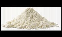 Pile of milk powder - starting ingredient to make custom milk chocolate.